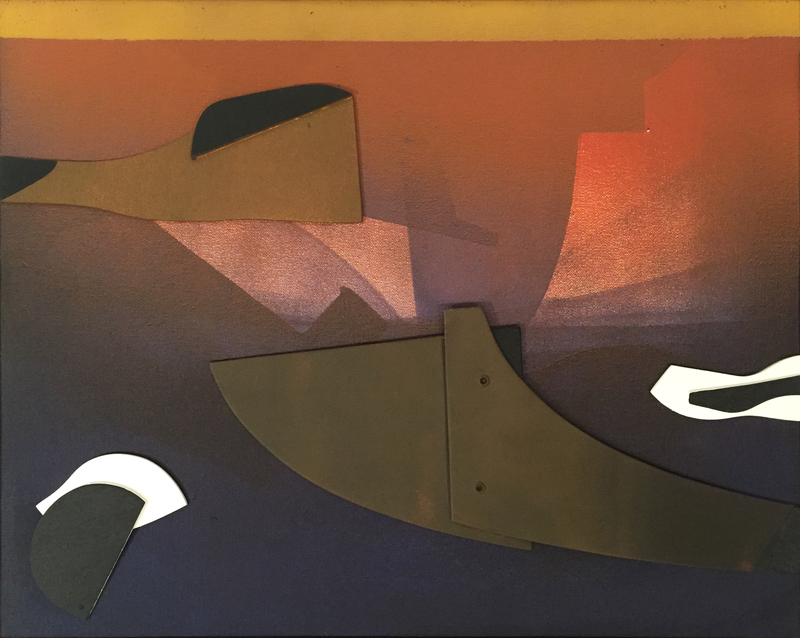 Edoardo FRANCESCHINI - Gemälde - Senza titolo, 1969