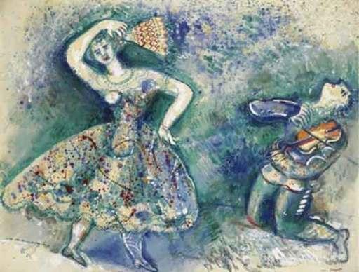 Marc CHAGALL - Peinture - La Danse