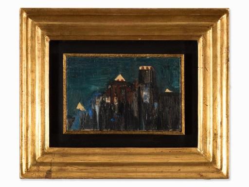 Oscar DOMINGUEZ - Pintura - La ville, la nuite