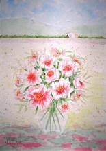 Valerio BETTA - Drawing-Watercolor - Paesaggio con fiorii-Landscape with flowers _ offer pri