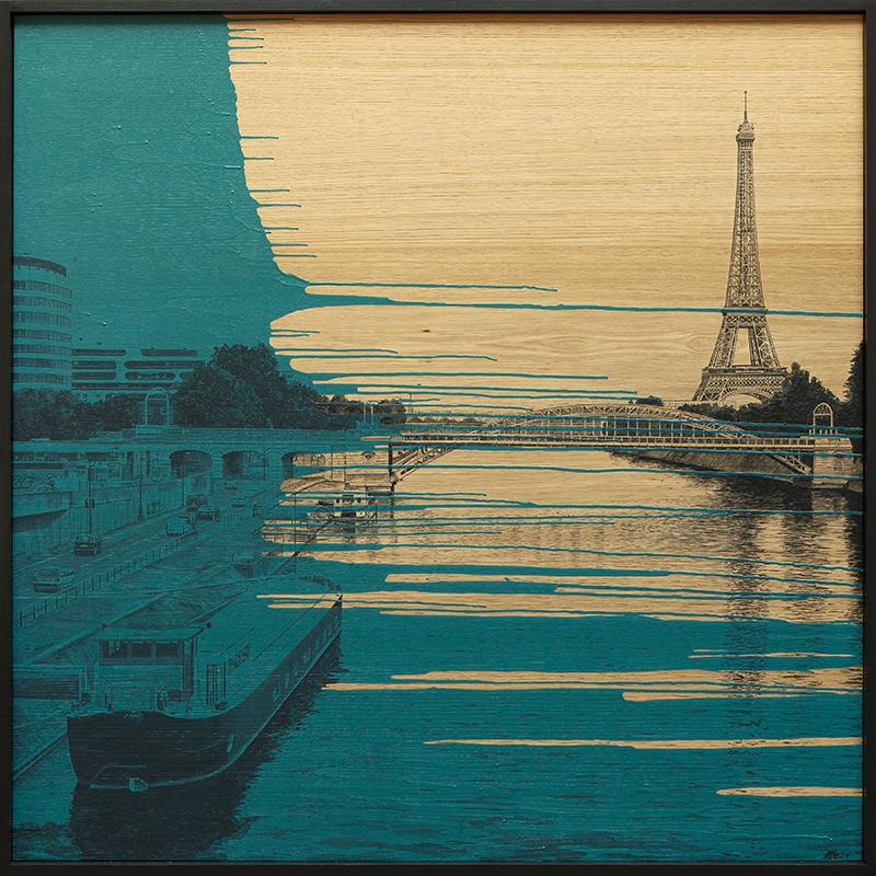 Laurent MINGUET - Painting - Seine de Paris