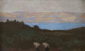 Maurice DENIS - Peinture - Effet de soir au bord de la mer