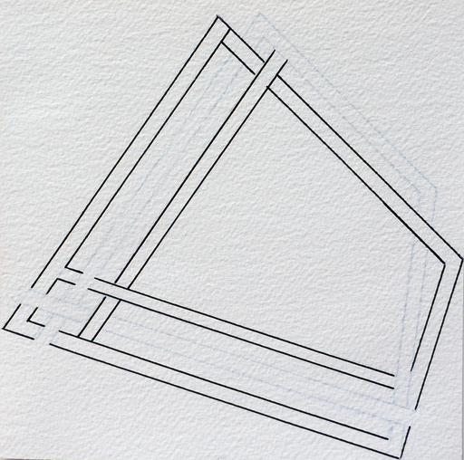 Ode BERTRAND - Zeichnung Aquarell - Entrelacs VII
