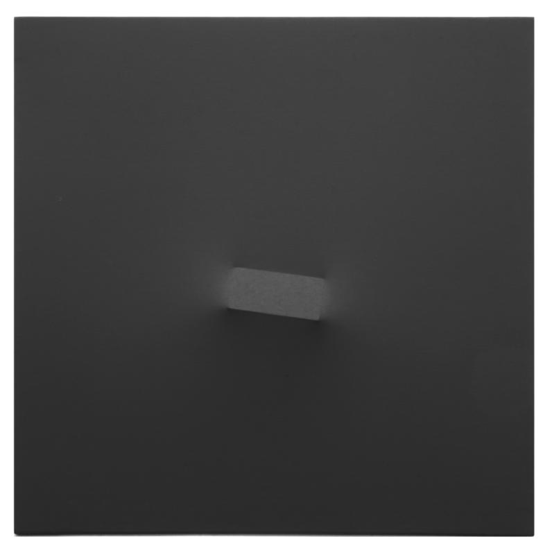 Turi SIMETI - Painting - Un rettangolo nero