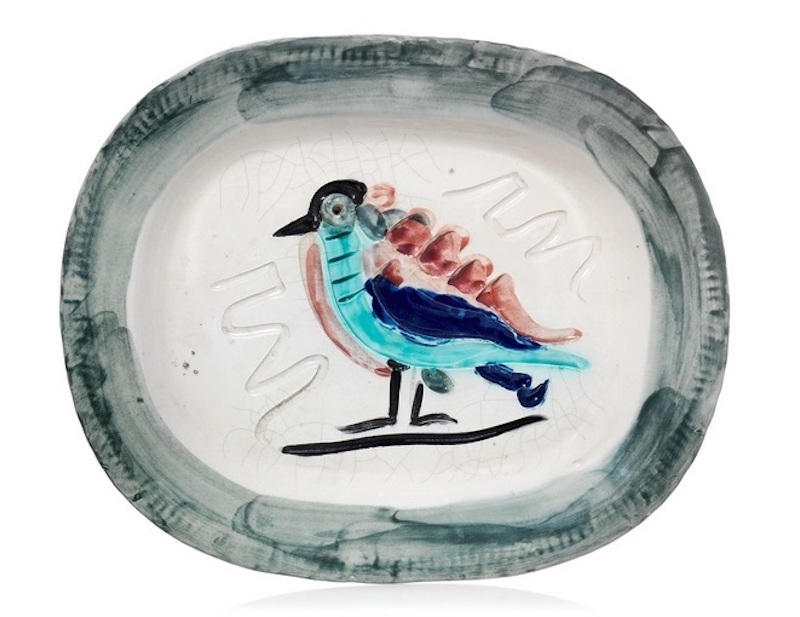 Pablo PICASSO - Céramique - Oiseau polychrome (A.R.33)