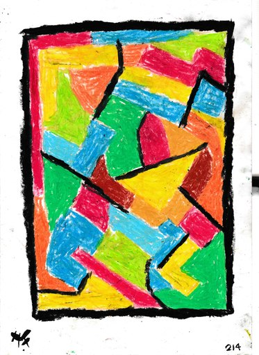 Harry BARTLETT FENNEY - Drawing-Watercolor - abstrait sur portal rouge
