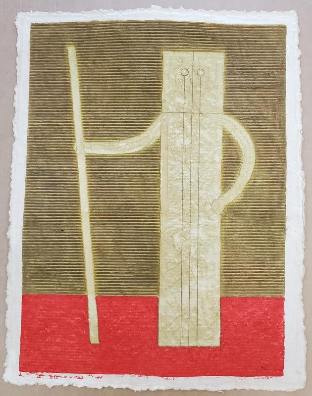 Rufino TAMAYO - Painting - Hombre con Baston