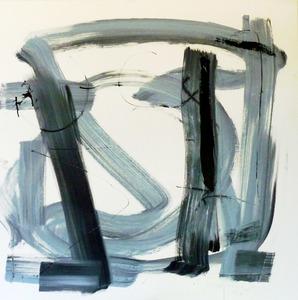 François GARROS - Painting - G haiku bleu de Lectoure 2