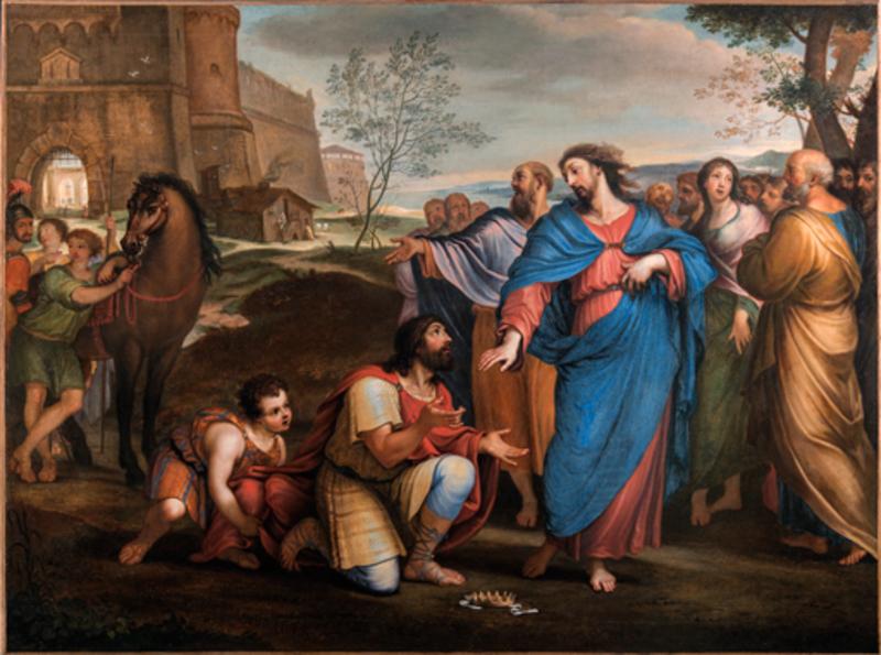 Alessandro MARCHESINI - Painting - scène biblique
