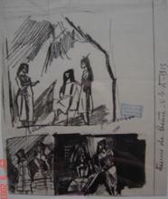 Jules PASCIN - Disegno Acquarello - ENCRE DES USA