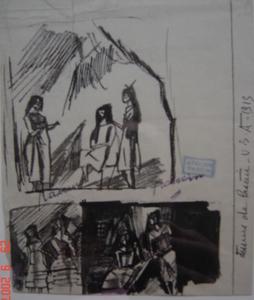 Jules PASCIN - Dibujo Acuarela - ENCRE DES USA