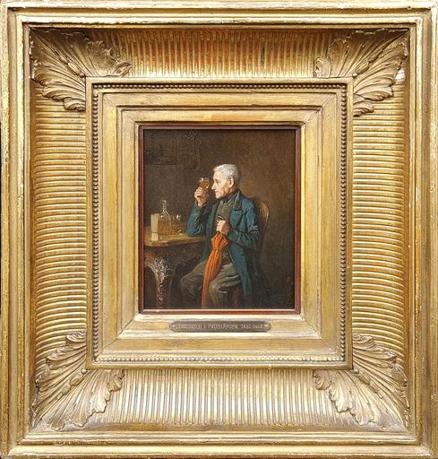 Friedrich FRIEDLÄNDER - Pittura - An Experienced Palate