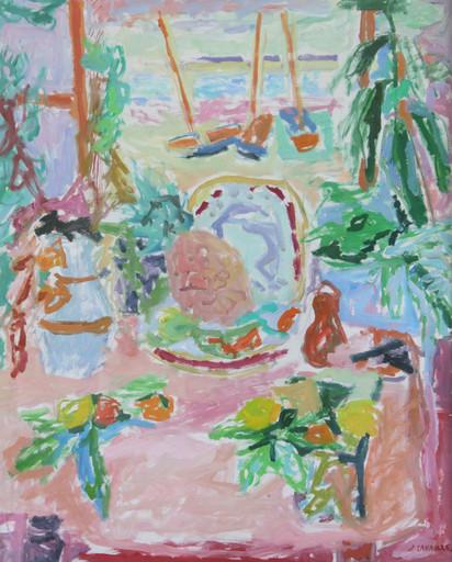 Jules CAVAILLES - Drawing-Watercolor - Composition à l'ananas