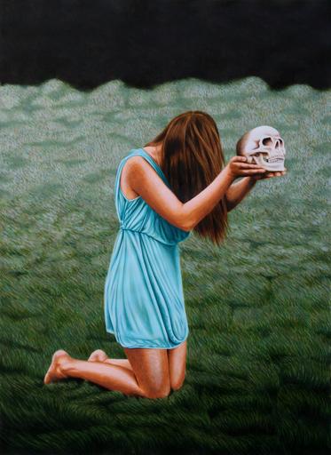 Erlend STEINER LOVISA - Painting - Carolijn 1 (Memento mori)    (Cat N° 4545)