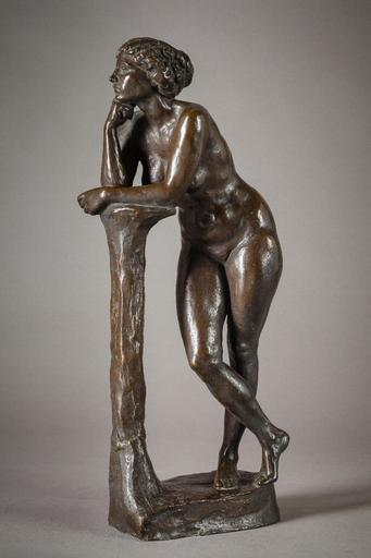 Louis TUAILLON - Sculpture-Volume - Nu accoudé