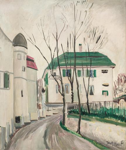 Joseph HECHT - Pintura - Urban landscape