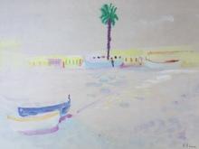 Fred Frits KLEIN - Zeichnung Aquarell