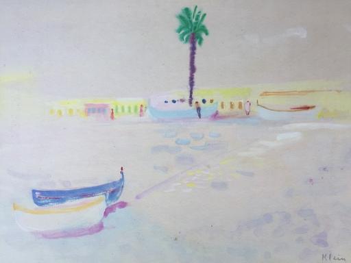 Fred Frits KLEIN - Zeichnung Aquarell - Marine