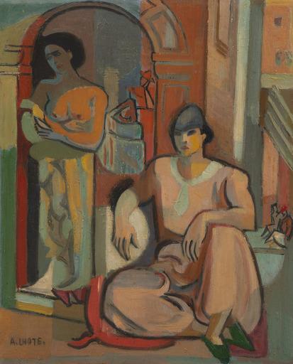 André LHOTE - Pintura - Deux femmes dans la casbah d'Alger