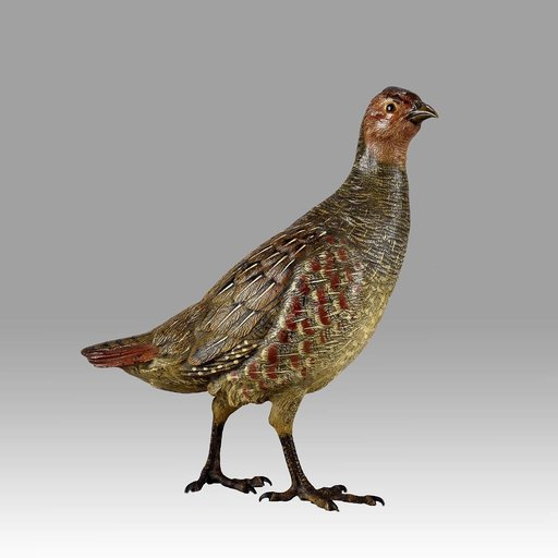 Franz BERGMANN - Sculpture-Volume - Standing Partridge