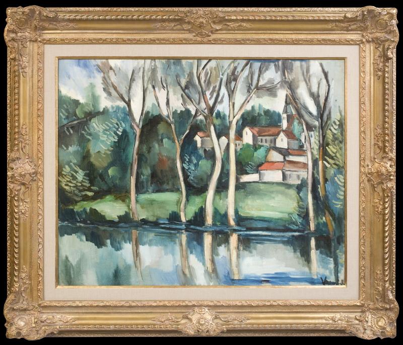 Maurice DE VLAMINCK - Painting - Village près de la Rivière