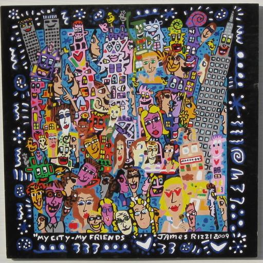 James RIZZI - Gemälde - MY CITY MY FRIENDS