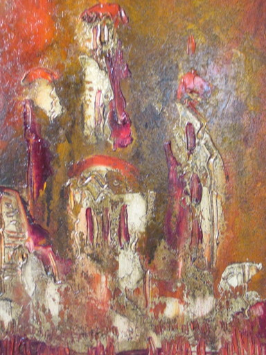 Mihailo BATA PROTIC - Painting - Composition abstraite