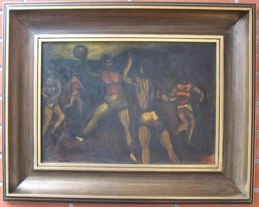 Ladislav GUDERNA - Painting - Handball