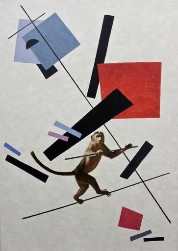 Vladimir KOLESNIKOV - Pittura - Suprematism. Balance
