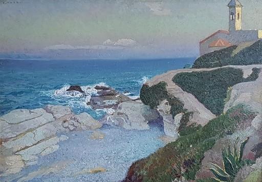 Cesare MAGGI - Painting - Chiesetta di S. Ampelio