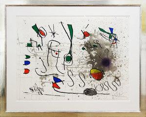 Joan MIRO - Grabado - Hommage à Picasso