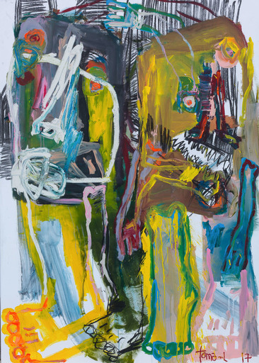 Thomas LABARTHE - Painting - Simple white trash