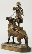 Evgeni Alexandrovich LANCERAY - Sculpture-Volume - Cossack Firing a Rifle