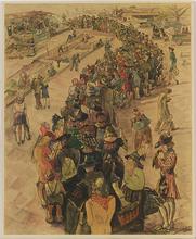 Bert MALLAD - Drawing-Watercolor - Munich in 1946, Watercolor