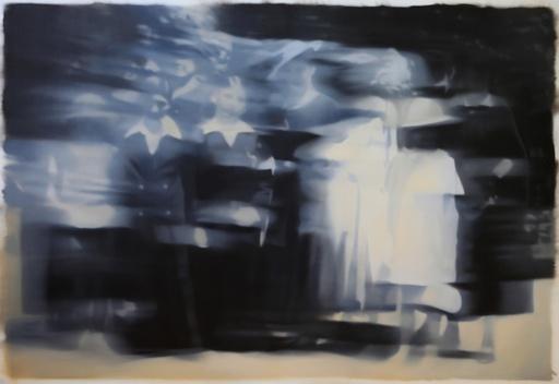 Jean-Marc AMIGUES - Pittura - Mémoires 1 (2 soeurs)