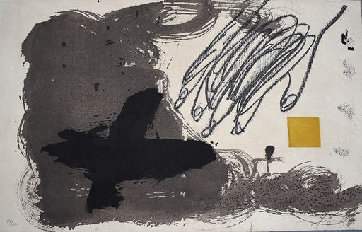Antoni TAPIES - Print-Multiple - Untitled, from: 12th Anniversary Galeria Joan Prats 1976-88