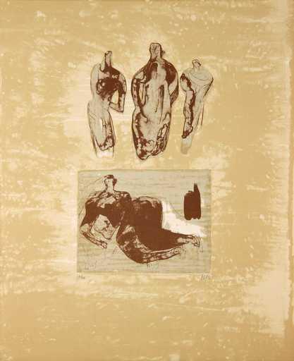 Henry MOORE - Druckgrafik-Multiple - Ideas from a Sketchbook