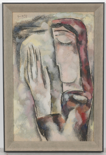 """Boris DEUTSCH - Dessin-Aquarelle - """"Pray"""", watercolor"""