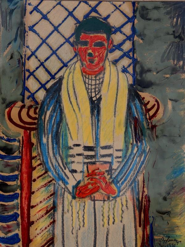 Ferenc BOLMANYI - Painting - L'ECHARPE JAUNE
