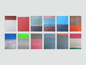 Daniel GÖTTIN - Painting - Untitled 1-12 2017