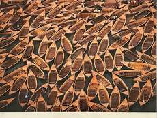 Yann ARTHUS-BERTRAND - Photo - La Terre vue du Ciel - Barques au Mali