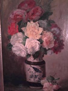 Antony Paul Emile MORLON - Pittura - Vase de fleurs