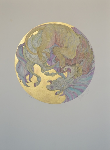 Guillaume A. AZOULAY - Estampe-Multiple - Leo Gold Leaf