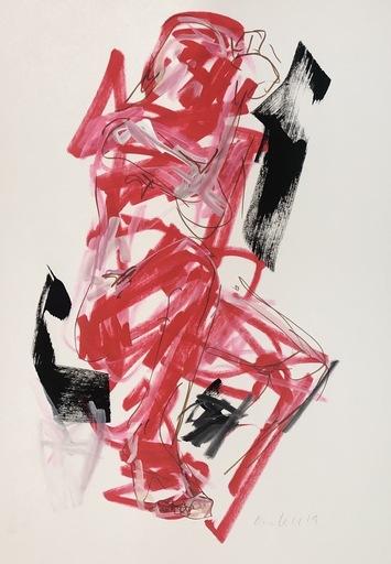 Nicole LEIDENFROST - Zeichnung Aquarell - Akt Nr. 5