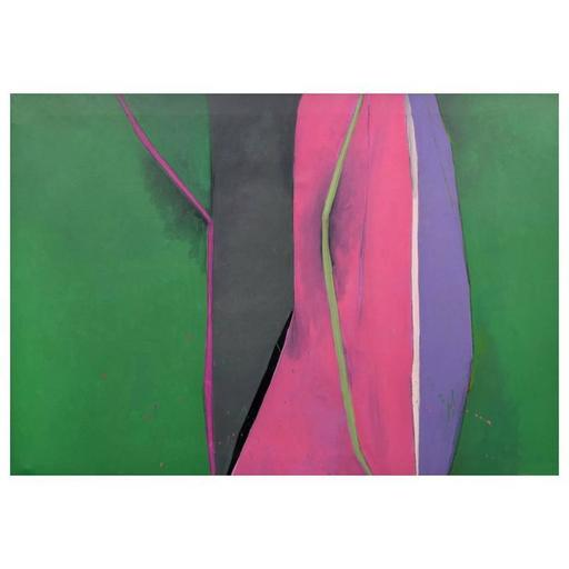 Robert L. KILEY - Pittura - Large Robert Kiley Abstract Painting