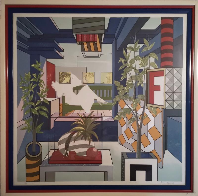 "Tonino CAPUTO - Print-Multiple - ""Impalcatura celeste"""
