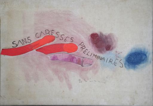 Mario SCHIFANO - Pintura - Sans caresses preliminares