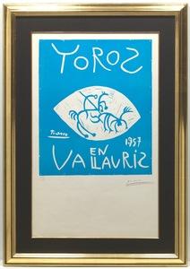 Pablo PICASSO - Stampa-Multiplo - Toros en Vallauris 1957