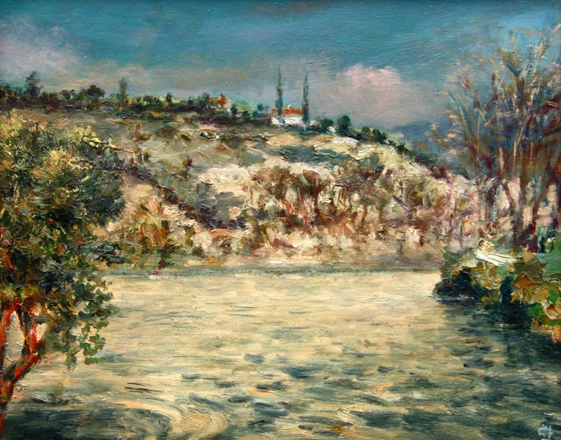 Levan URUSHADZE - Gemälde - Tejo river