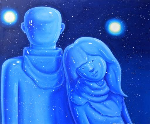 SHEN Jingdong - Painting - Blue couple